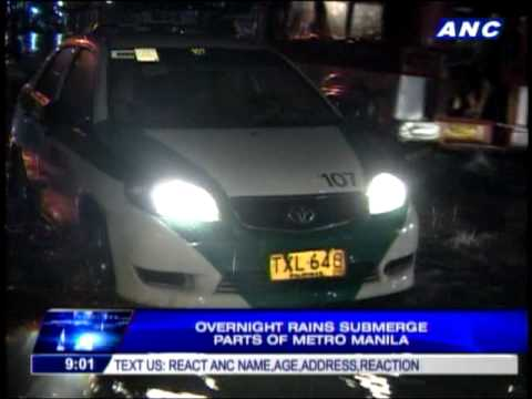 Overnight rains submerge parts of Metro Manila