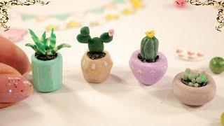 CUTE ♥ Miniature Succulents    Polymer Clay    DIY