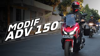 Modifikasi Ringan Honda ADV 150 Buat Touring
