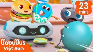 Chạy thoát khỏi những chú kiến   Hamburger và những người bạn   Hoạt hình thiếu nhi   BabyBus