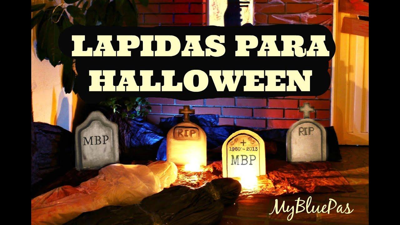 Decoracion para Halloween / Lapidas para decorar ...