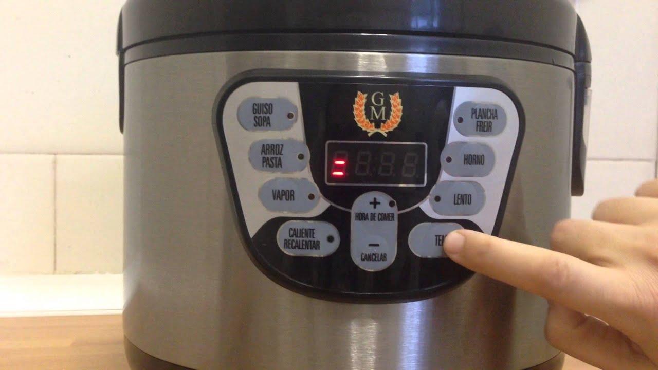 C mo programar su comida en su robot de cocina modelo alfa for Robot de cocina botticelli