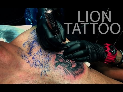 I'm Inked Lion Tattoo on Chest
