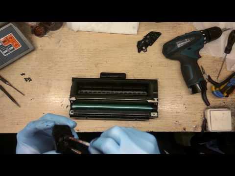 Заправка и переделка Samsung ML-1710 в SCX-4100 // Refill & Convert Samsung ML-1710 To SCX-4100