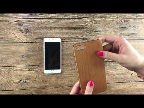 how to use solid wood carved wood case for IPhone 7, DIY