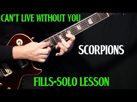 "how to play ""Can't Live Without You"" on guitar by Scorpions 