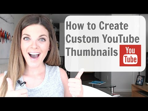 How to Make Custom Thumbnails on YouTube (Tutorial) - SO EASY!
