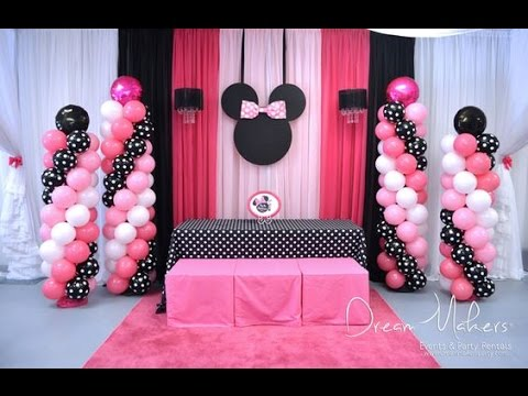 FIESTA DE MINNIE MOUSE|NIÑA|MESA DE DULCES|2017|PARTY|DECORACION|IDEAS|DIY