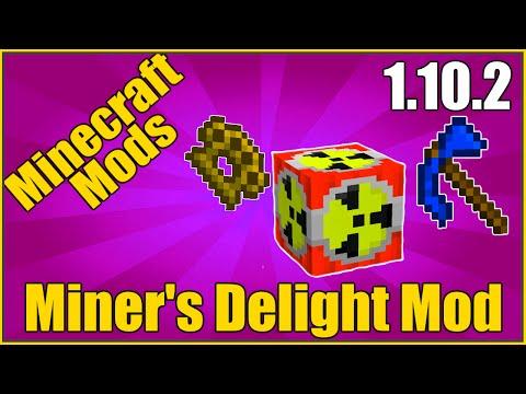 "Minecraft Mods:  "" Miner's Delight Mod 1.10. 2 """