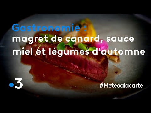 gastronomie-:-magret-de-canard,-sauce-au-miel-et-légumes-d'automne---météo-à-la-carte