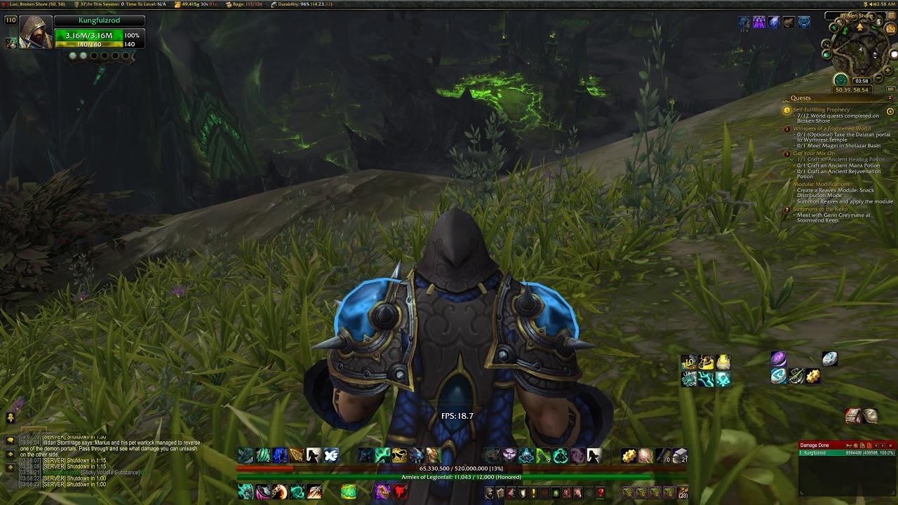 World of Warcraft on 8K Ultra resolution - GTX 1080 Ti