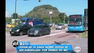 Manhã de acidentes envolvendo ônibus BRT. Uma jovem morreu