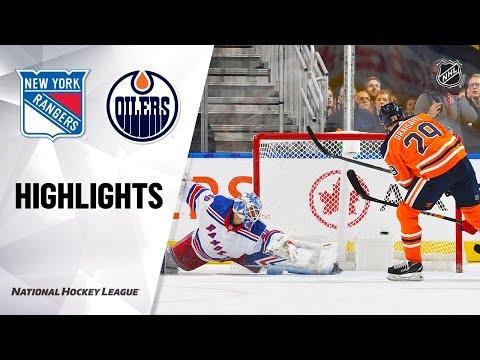 NHL Highlights   Rangers @ Oilers 12/31/19