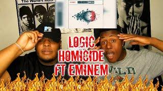 Logic - Homicide (feat. Eminem) (Official Audio) REACTION