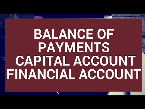 Balance of Payments: Capital and Financial Accounts