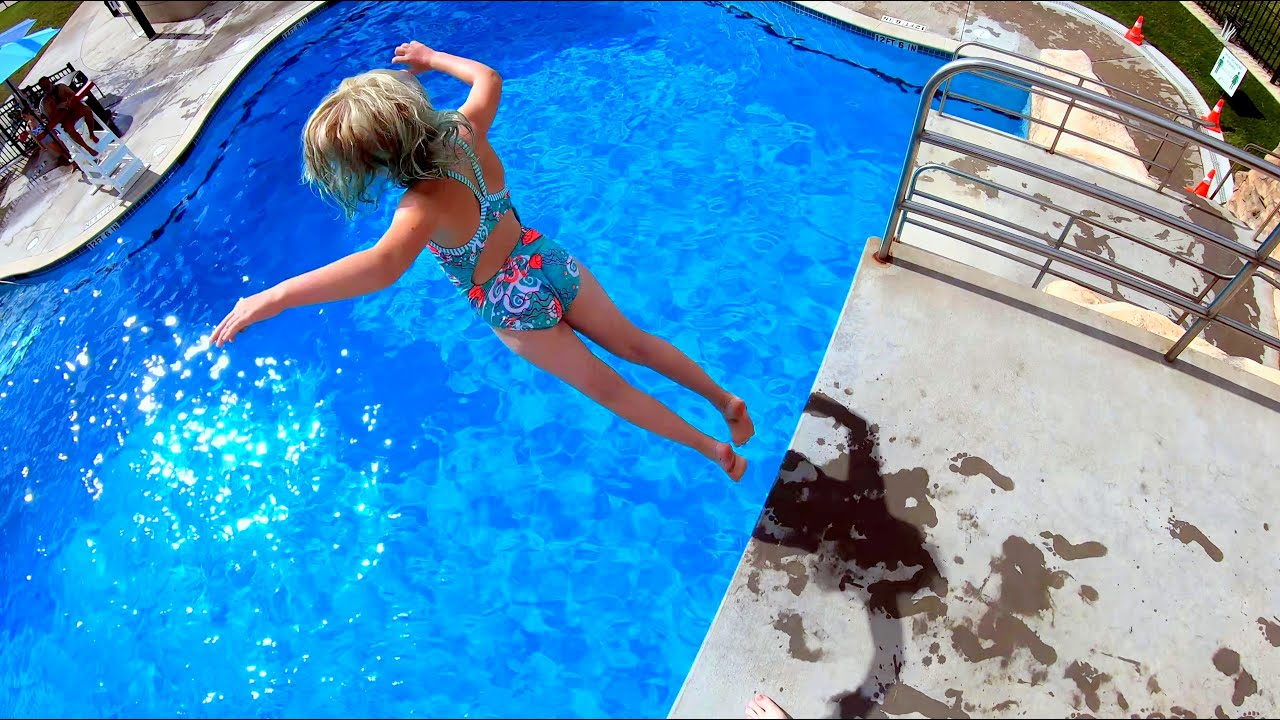 Testing my Buoyancy at the Bottom of the Swimming Pool