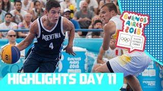 Argentina & USA Win 3x3 Basketball Gold | YOG 2018 Day 11 | Top Moments thumbnail
