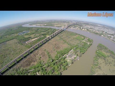 Puente Zárate - Brazo Largo Desde Un Drone - 4K - Argentina