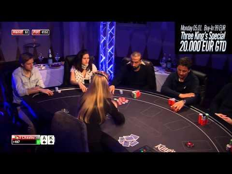 CASH KINGS E35 1/2 - DE - NLH 2/5 ante 5 - Live cash game poker show