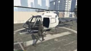 Быстрый способ украсть вертолет у полицейских в GTA 5(Как украсть вертолет у полицейских в GTA 5., 2016-05-28T11:37:59.000Z)