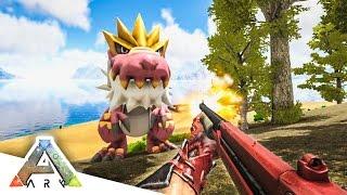 shotgun vs tyrantrum ark survival evolved pokemon mod 15