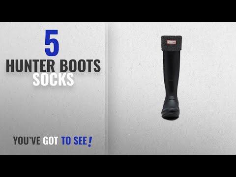 Top 5 Hunter Boots Socks [2018]: Hunter Boots Women's Glitter Cuff Boot Sock Black MD M US