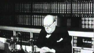 Winston Churchill announcing Germany
