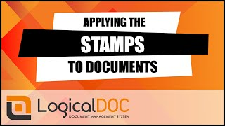 Applying the stamps to documents