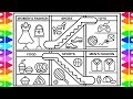 How to Draw a Shopping Mall for Kids 💚💖💙Shopping Mall Drawing | Shopping Mall Coloring Pages