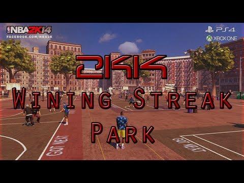 CRAZY WINNING STREAK! NBA 2K14 - The Park