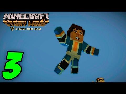 ME CAIGO!! AYUDAAAA!!!! - MINECRAFT STORY MODE - Episodio 5 (Parte 3)