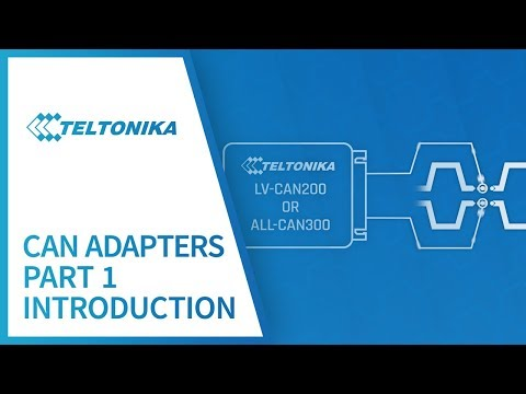Teltonika CAN adapters Part 1: Introduction - YouTube