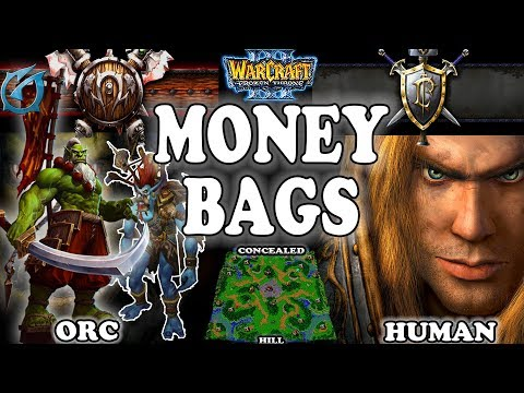 Grubby | Warcraft 3 TFT | 1.30 | ORC v HU on Twisted Meadows - Money Bags