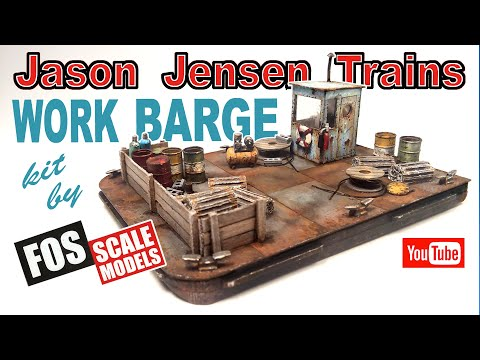 Work Barge kit by Fos Scale Models.