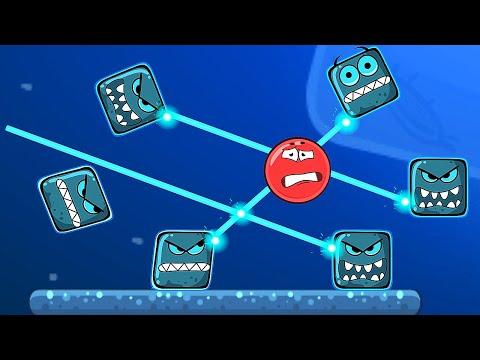 Красный Шар - мод на 1000 квадратов на уровне ! Взлом игры Red Ball 4 Mod 100 Square шарик от Спуди