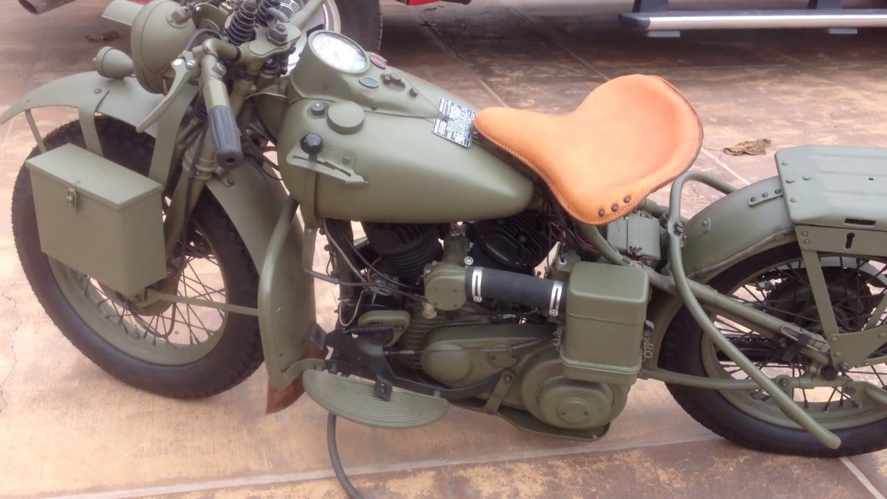 1942 Harley Davidson WLA Foot Clutch Tutorial