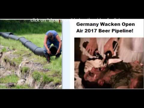 Beer pipeline being built for 2017 Wacken Open Air festival in Germany!