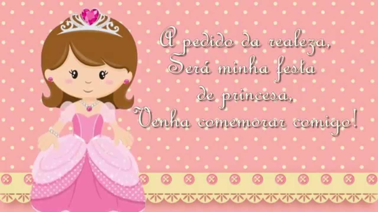 Convite Virtual Princesa Mirella Youtube