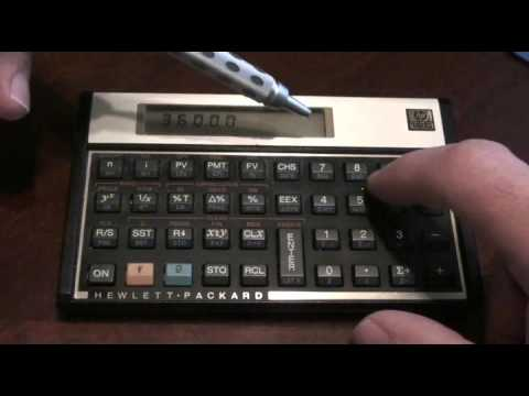 How to do a amortization schedule using HP 12C