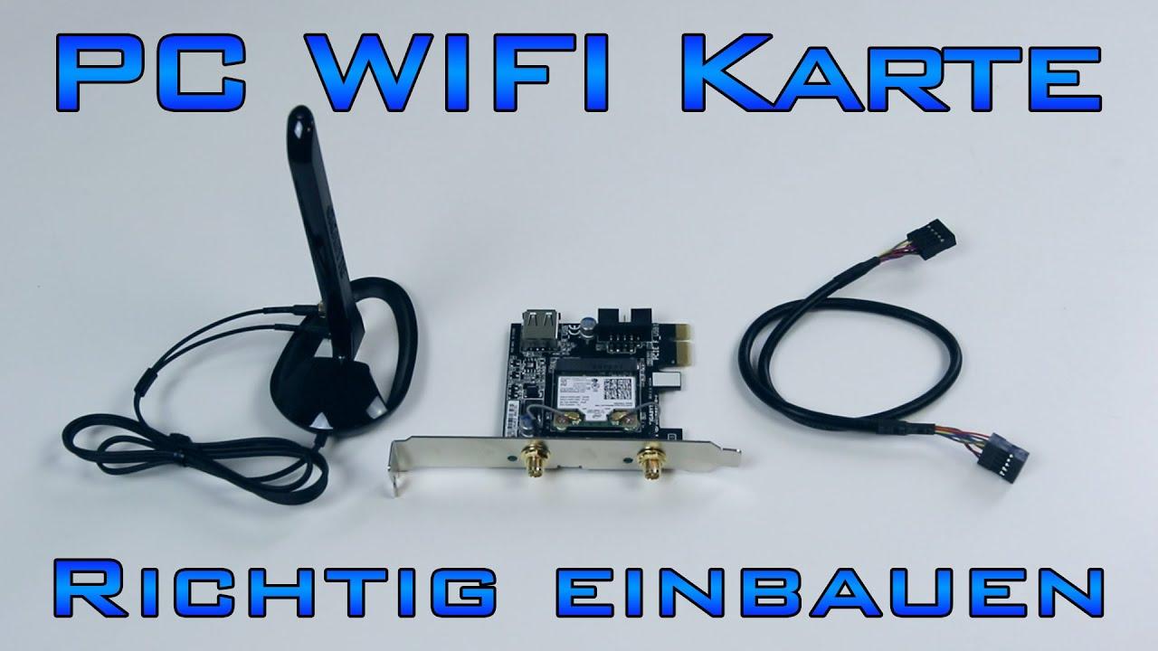 PC - WLan/Bluetooth Karte richtig einbauen - YouTube