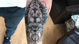 Video Lion - Tattoo time lapse (Design by Otheser) download MP3, 3GP, MP4, WEBM, AVI, FLV Juni 2018