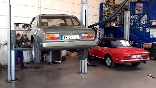 Peugeot 504 Coupé - wasted wheel bearing, front brake disks
