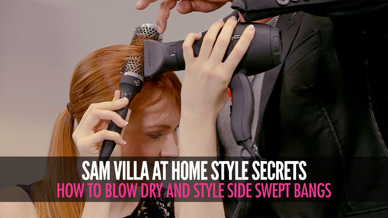 How To Style Side Swept Bangs Side Sweeping Fringe Tutorial Youtube