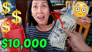 Surprising my mom with $10,000 for no reason...MADE HER CRY!!!!!