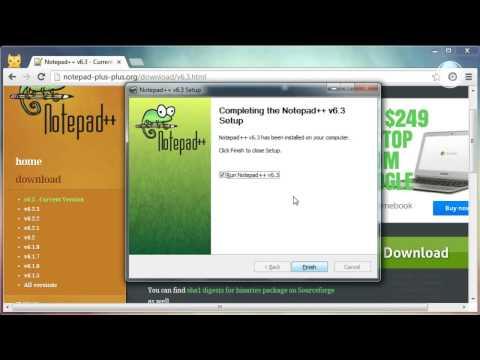 Install Notepad++ HTML Editor Free