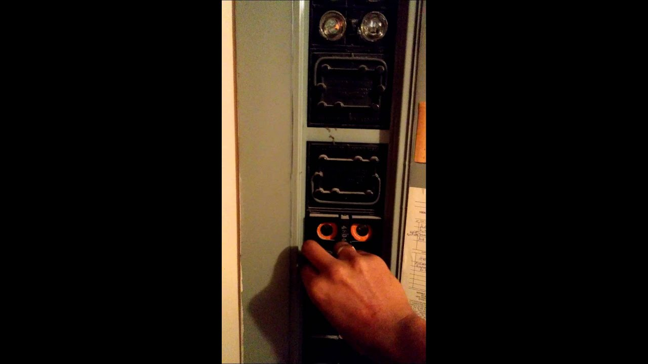 maxresdefault how to safely change an old apartment fuse youtube how to reset old fuse box at webbmarketing.co
