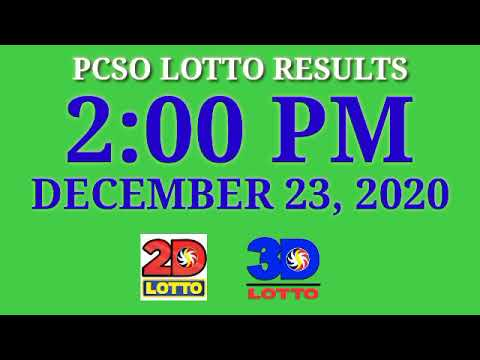 2pm Pcso Lotto Result Today December 23 2020 Ez2 Swertes 2d 3d Stl Youtube