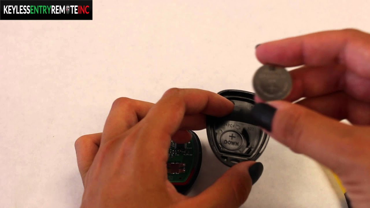 How To Replace Gmc Sierra Key Fob Battery 2007 2011 Youtube