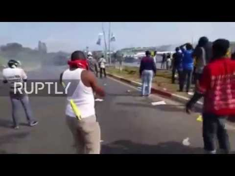 Gabon: Protesters clash with police at anti-Bongo re-election demo in Libreville
