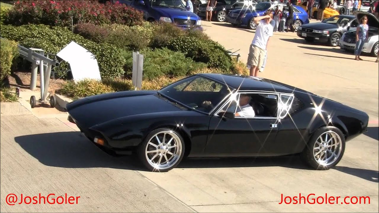 Ford Pantera For Sale >> Amazing Black Detomaso Pantera, Driving, Engine Sound, 1080p HD - YouTube